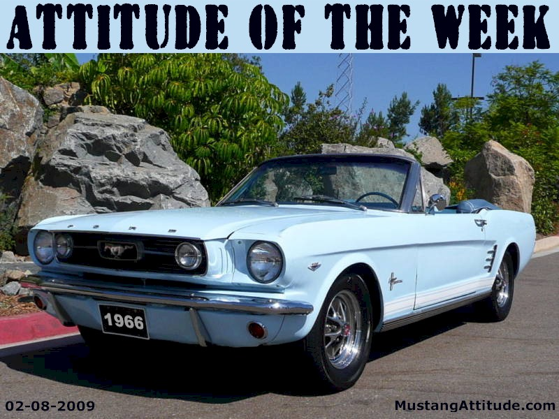 Arcadian Blue 1966 Ford Mustang