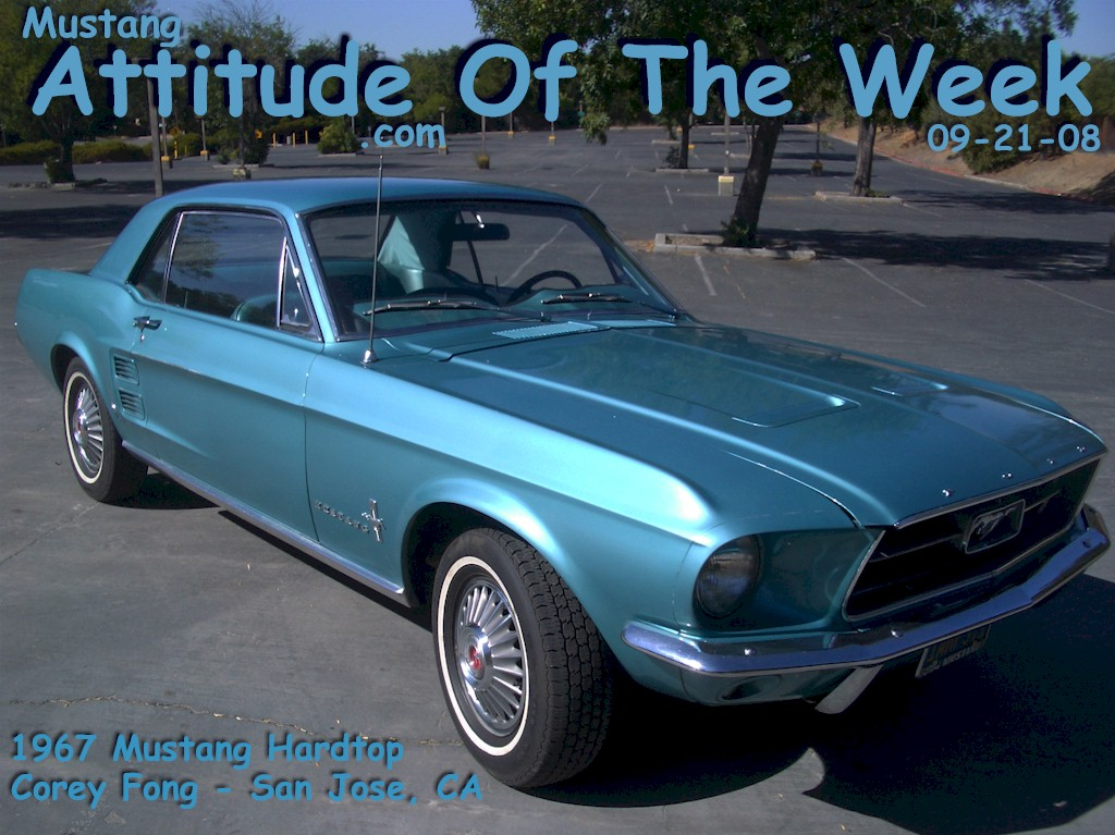Clearwater Aqua 1967 Ford Mustang