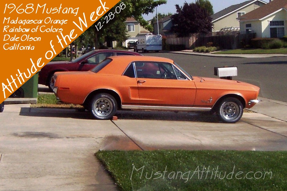 Madagascar Orange 1968 Ford Mustang