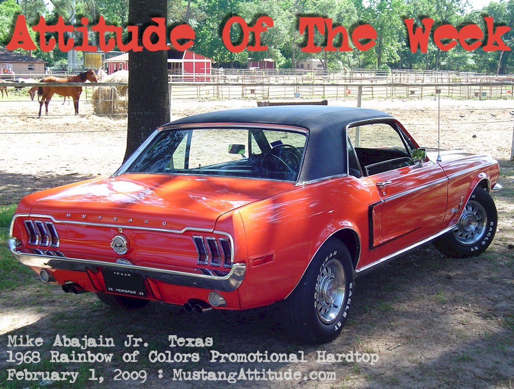 Special Orange 1968 Ford Mustang