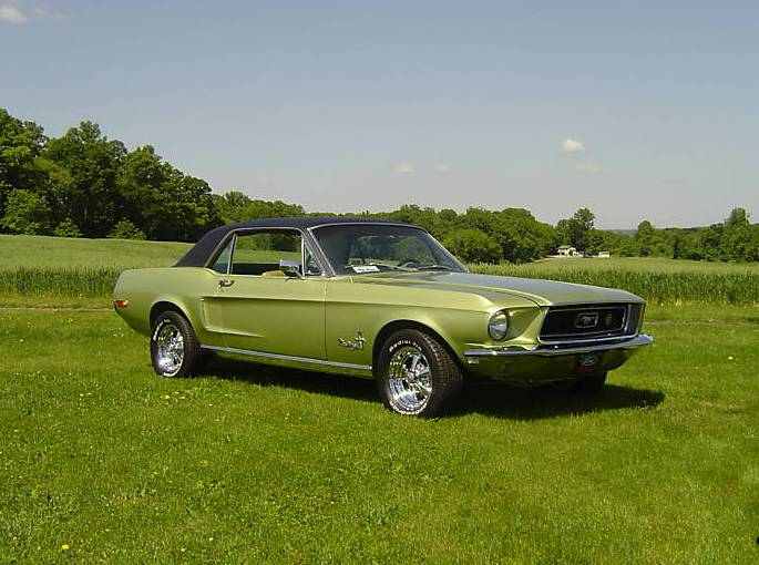 Lime Gold 1968 Ford Mustang