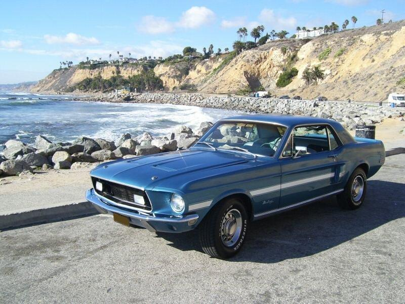 Acapulco Blue 1968 Ford Mustang