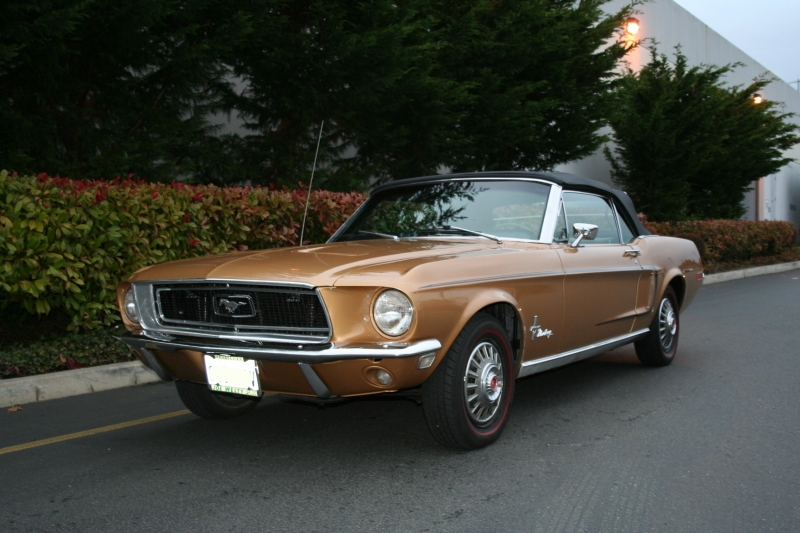 Sunlit Gold 1968 Ford Mustang