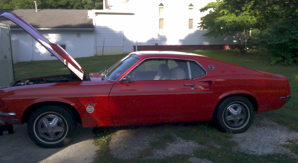 Flower Power Red 1969 Ford Mustang