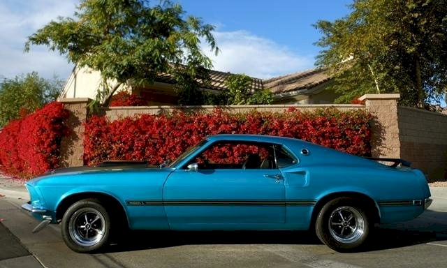 Beatnik Blue 1969 Ford Mustang