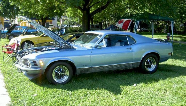Medium Blue 1970 Ford Mustang