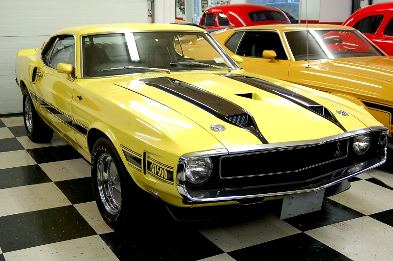 Bright Yellow (Grabber Yellow) 1970 Ford Mustang