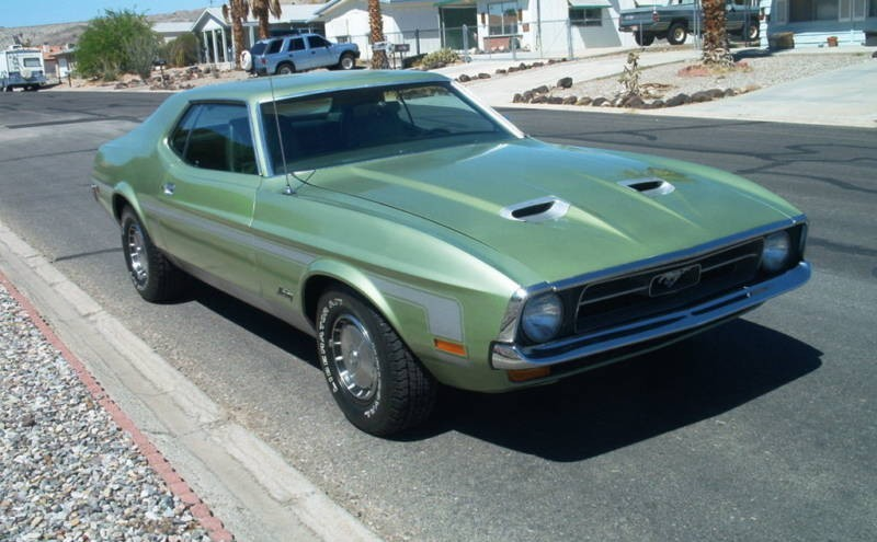 Medium Green 1971 Ford Mustang