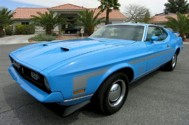 Grabber Blue 1971 Ford Mustang