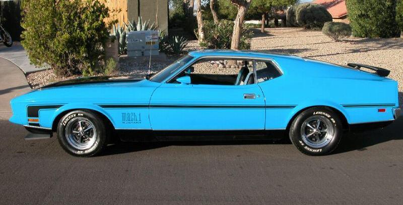 Grabber Blue 1972 Ford Mustang