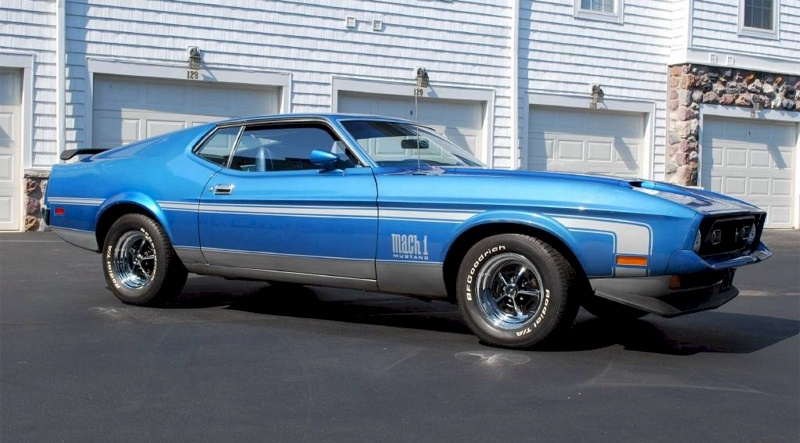 Bright Blue 1972 Ford Mustang
