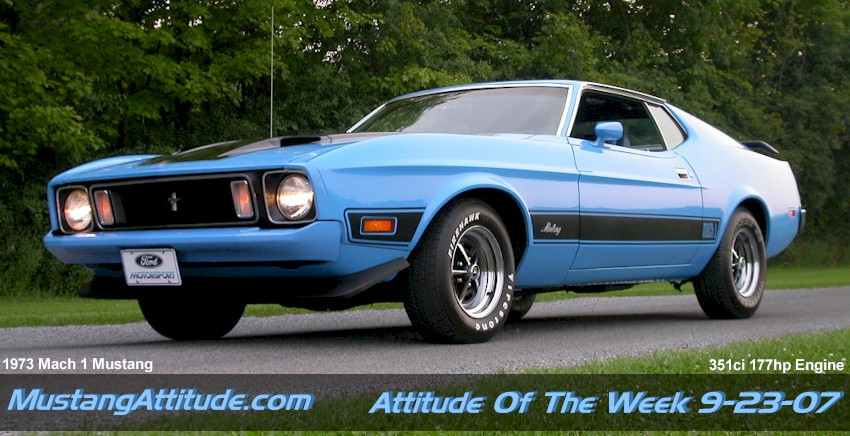 Light Blue 1973 Ford Mustang