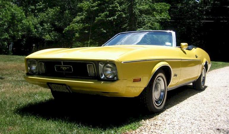 Medium Bright Yellow 1973 Mustang Paint Cross Reference