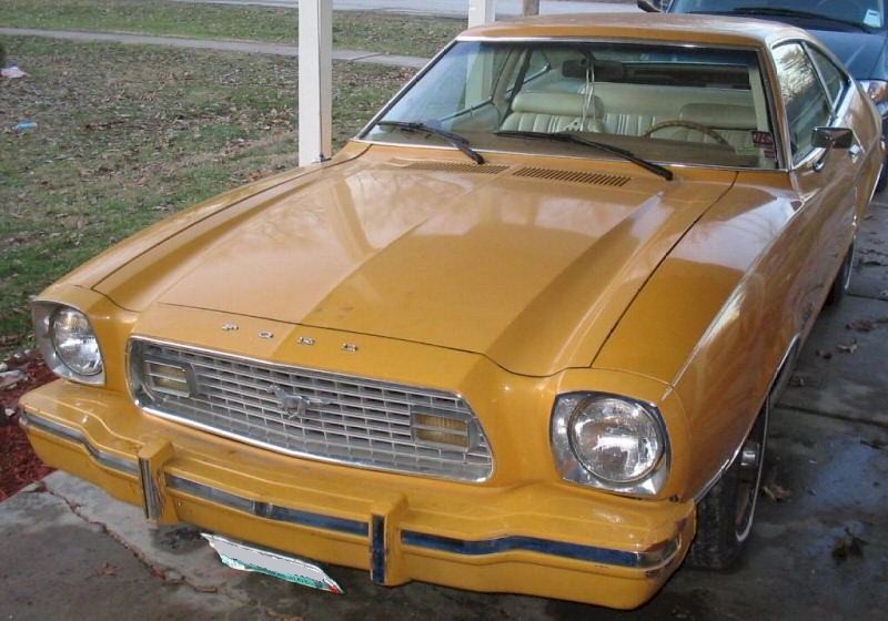 Medium Yellow Gold (Goldenrod) 1974 Ford Mustang