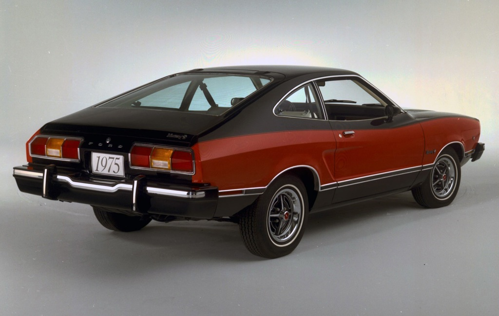 Black 1975 Ford Mustang