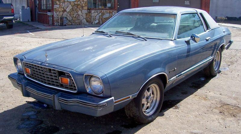 Silver Blue Glow 1976 Ford Mustang