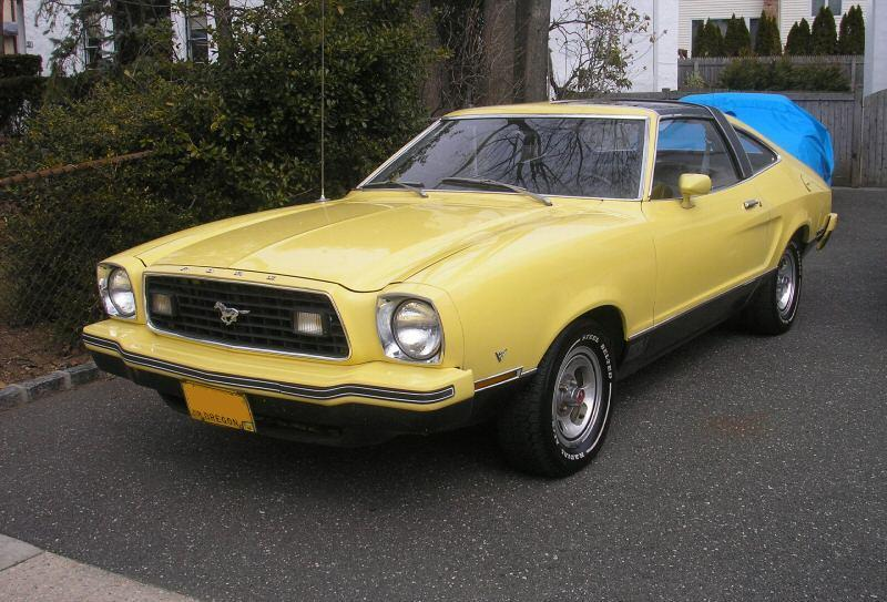 Bright Yellow 1977 Ford Mustang