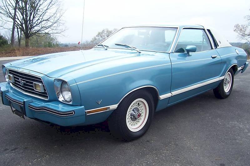 Light Aqua 1977 Ford Mustang