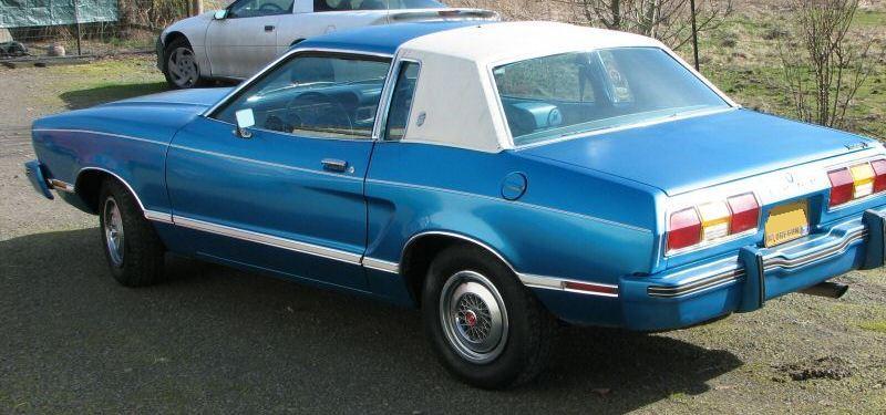 Bright Aqua 1978 Ford Mustang