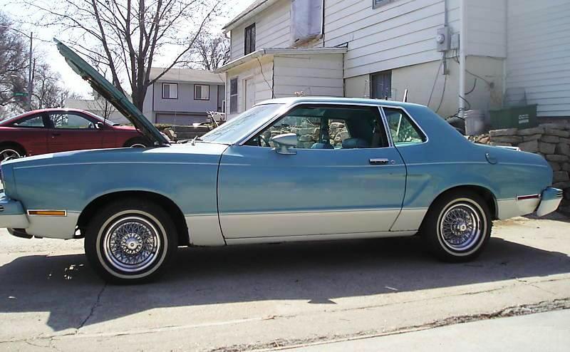 Light Aqua 1978 Ford Mustang