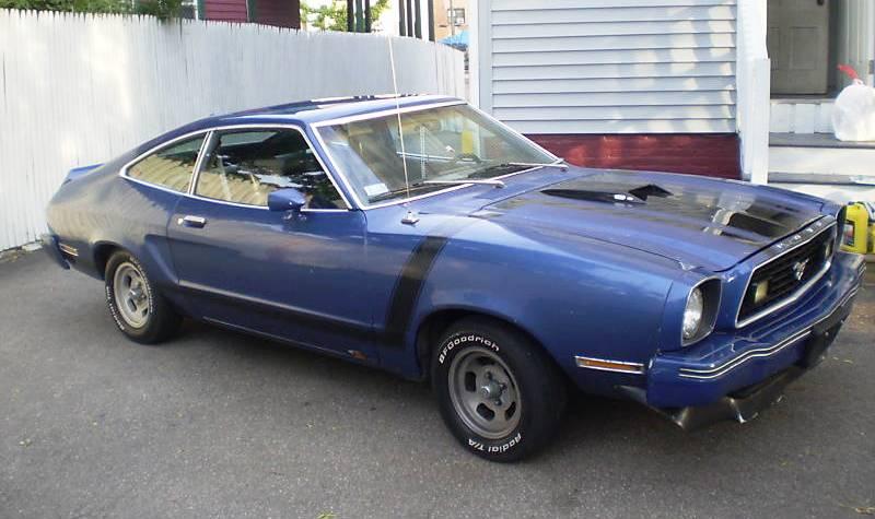 Dark Midnight Blue 1978 Ford Mustang