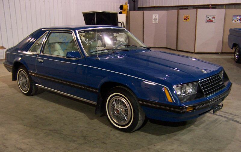 Bright Blue 1979 Ford Mustang