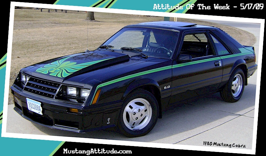 Black 1980 Ford Mustang