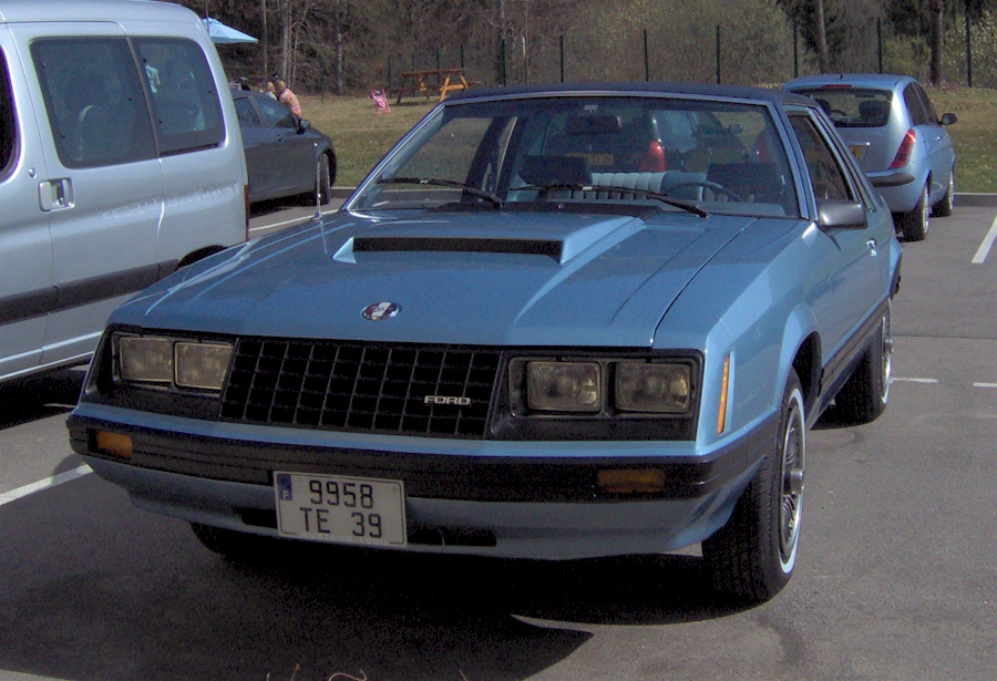 Medium Blue 1980 Ford Mustang