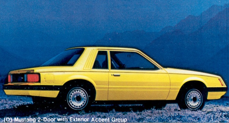 Bright Yellow 1980 Mustang Paint Cross Reference