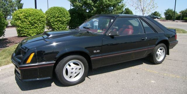Black 1982 Ford Mustang 