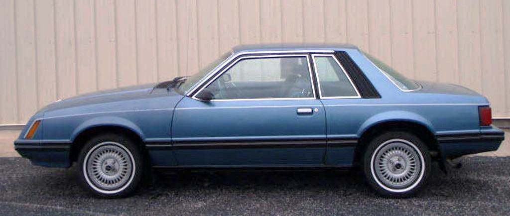 Medium Blue Glow 1982 Ford Mustang