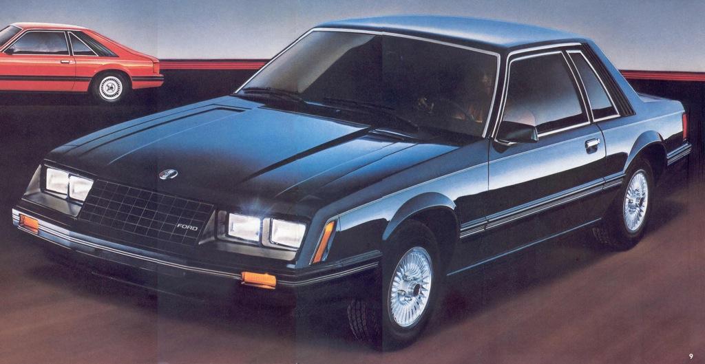 Dark Blue 1982 Ford Mustang