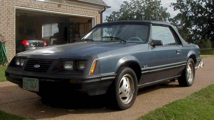 Midnight Blue 1983 Ford Mustang
