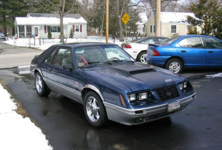 Dark Cadet Blue 1984 Ford Mustang