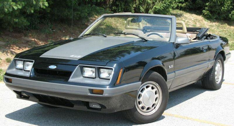 Black 1985 Ford Mustang 