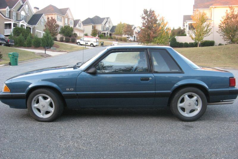 Medium Shadow Blue 1987 Ford Mustang