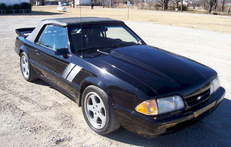 Black 1987 Ford Mustang