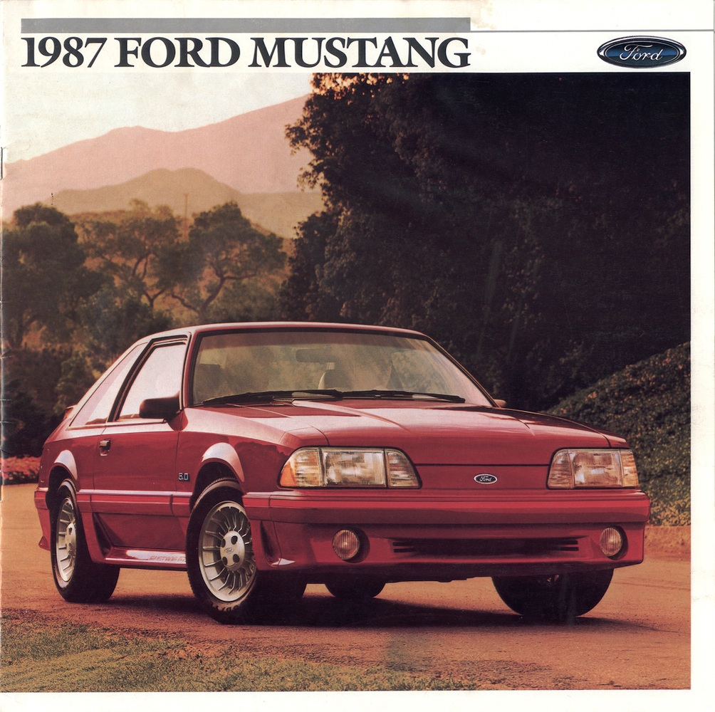 ford 1987 mustang sales brochure. Black Bedroom Furniture Sets. Home Design Ideas