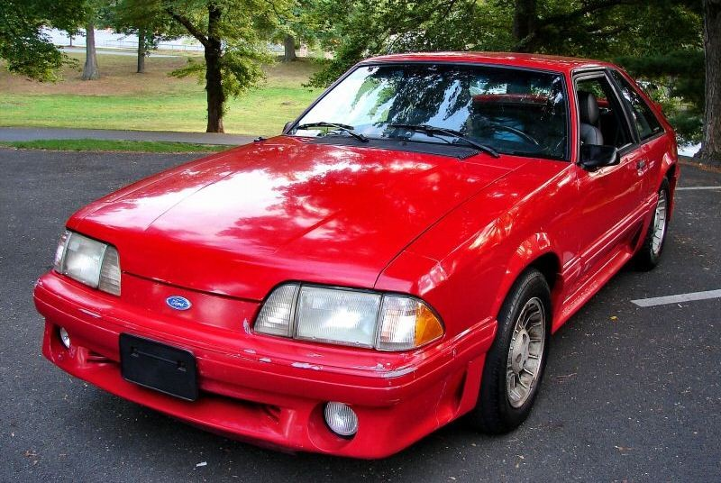 Bright Red 1989 Ford Mustang
