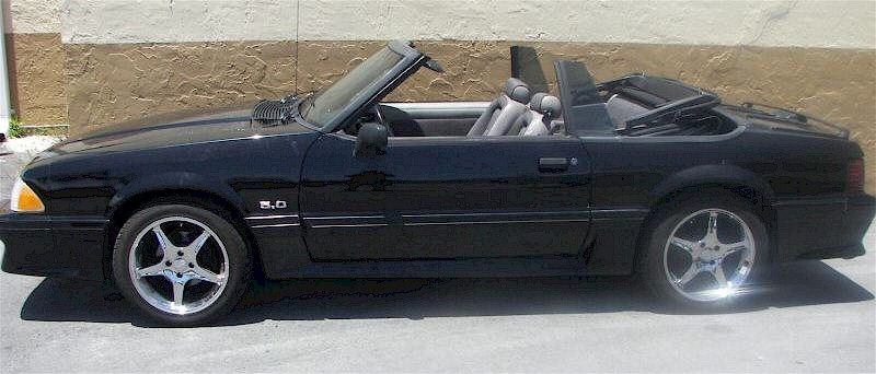 Black 1990 Ford Mustang