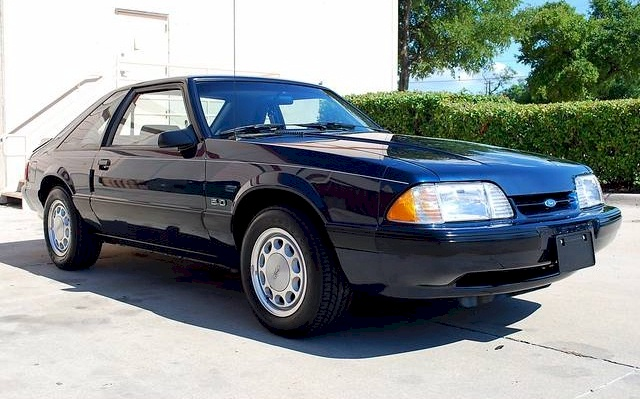 Twilight Blue 1990 Ford Mustang