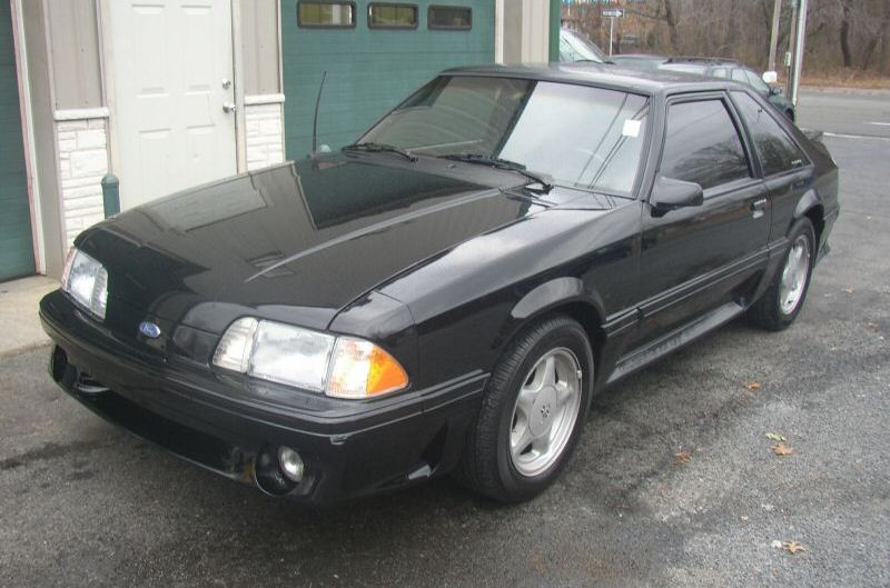 Black 1991 Ford Mustang