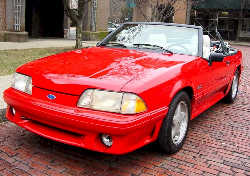 Bright Red 1991 Ford Mustang