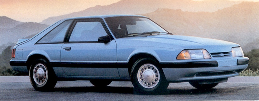 Light Crystal Blue 1991 Ford Mustang