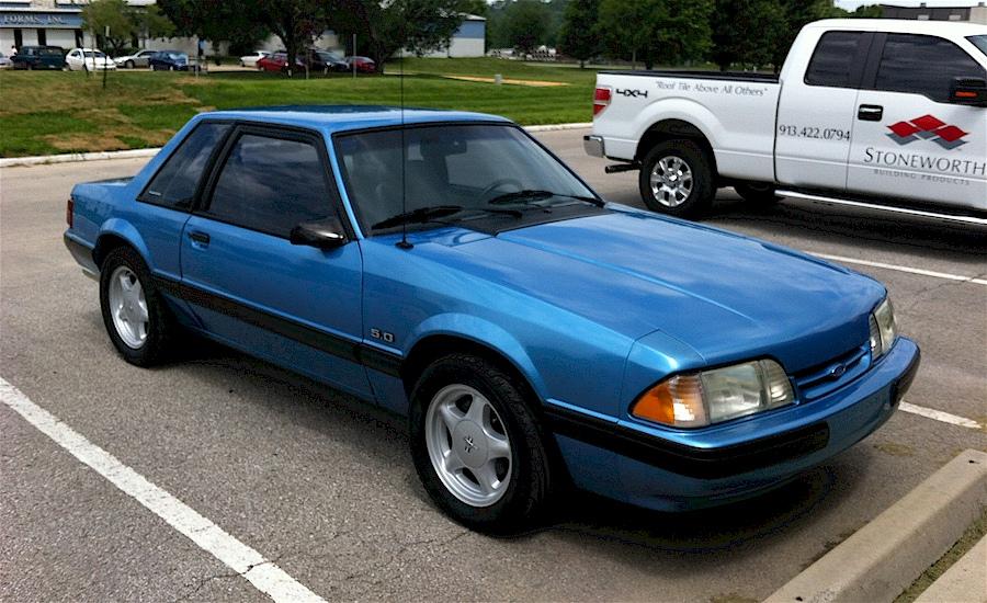 Bimini Blue 1991 Ford Mustang