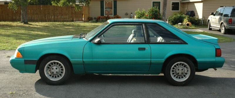 Bright Green (Calypso) 1992 Ford Mustang