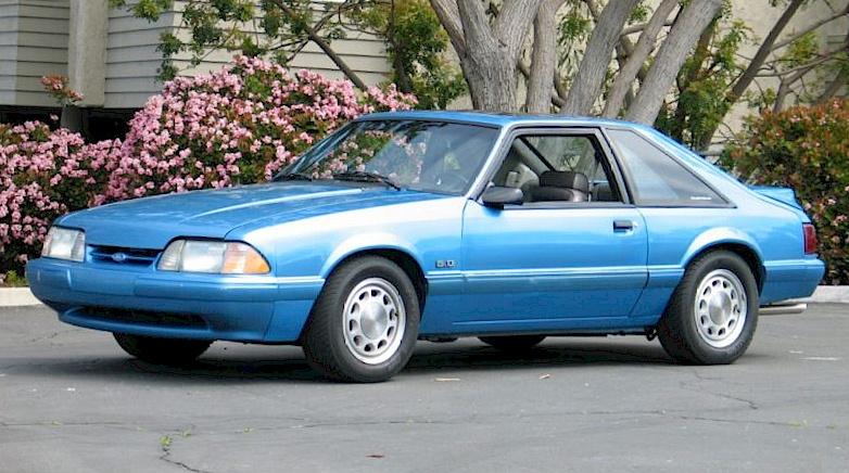 Bimini Blue 1992 Ford Mustang