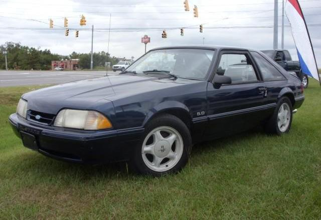 Twilight Blue 1992 Ford Mustang