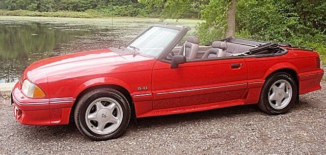Bright Red 1992 Ford Mustang