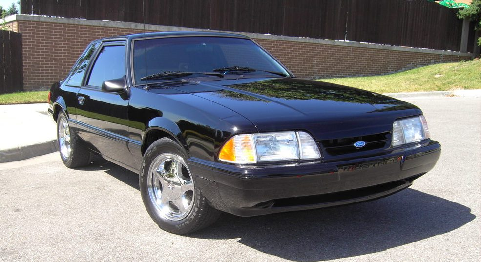 Black 1993 Ford Mustang
